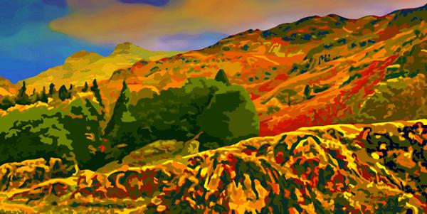 montagne en automne 2017 peinture numérique de Nik
